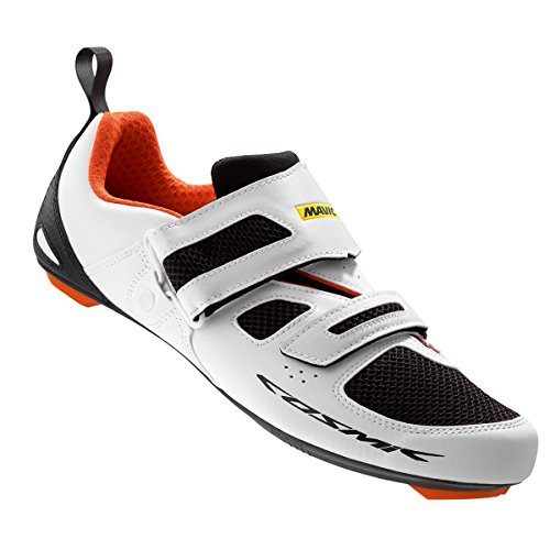 Mavic Cosmic Elite Tri Shoes - Men's White/Black/Orange sale supply sale tumblr BLGQz