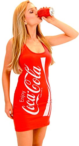 Coke Coca-Cola Red Tunic Tank Dress (Juniors Small)