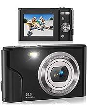 $48 » Digital Camera, Lecran FHD 1080P 36.0 Mega Pixels Vlogging Camera with 16X Digital Zoom, LCD Screen, Compact Portable Mini Cameras for Students, Teens, Kids (Black)