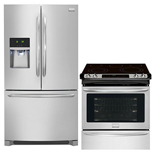 Frigidaire Gallery 2-Piece Smudge-Proof Stainless Steel Kitchen Package with FGHF2366PF (Electric Stainless Steel Refrigerator)