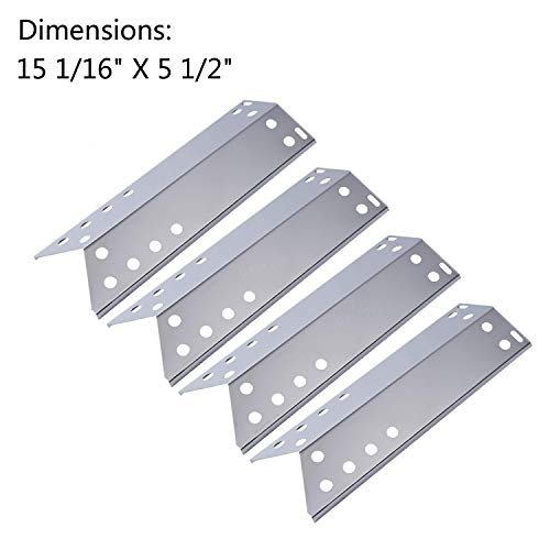 (GasSaf Stainless Steal Grill Heat Plate Shield Replacement for Kenmore Sears, Nexgrill and Grill Master (15 1/16 x 5 1/2inch))