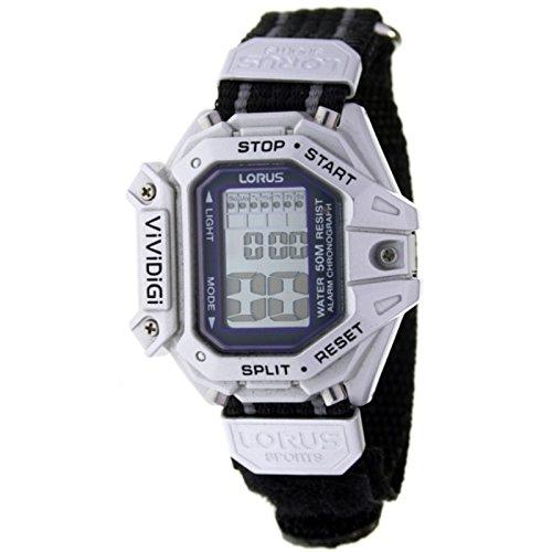 LORUS RBN003L-9 Reloj digital para hombre Serie ViViDiGi - Alarma, Crono, Luz. Correa nylon: Amazon.es: Relojes