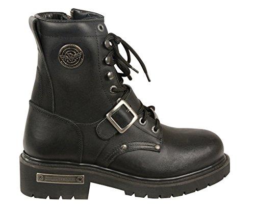 Milwaukee Lær Menns Klassiske Motorsykkel Støvler (svart, Størrelse 11)
