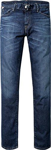DENIM&SUPPLY Herren Jeans Baumwolle Denim-Hose Unifarben, Größe: 33/34, Farbe: Blau