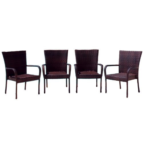 Best Selling Outdoor Wicker Chairs, 4-Pack by Best-selling
