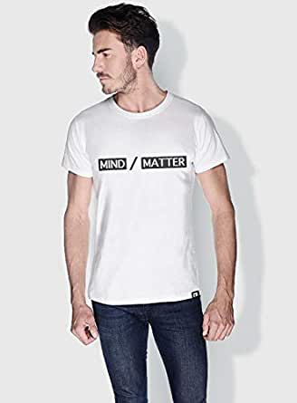 Creo Mind Matter Funny T-Shirts For Men - S, White