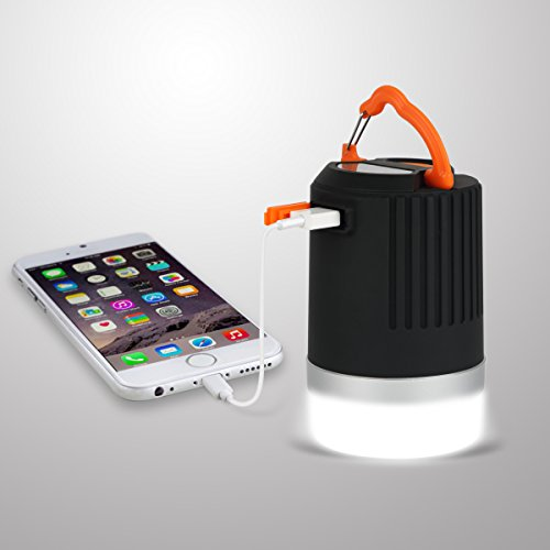 Wasserdichte (IP65) LED-Campinglampe Laterne mit 8800mAh Powerbank, Panpany im Outdoor wiederaufladbare Zeltlampe mit 2A Ausgang USB-Aufladung fürs Camping, Wandern, Fischen, Picknick und für Notfälle