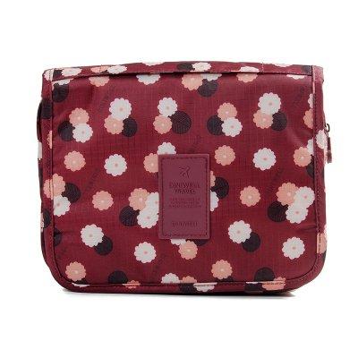 LULANForfait voyage, tous, hommes et femmes de grandes voyage étanche des sacs de portable ,24*19.5cm, fleurs rouge vin.