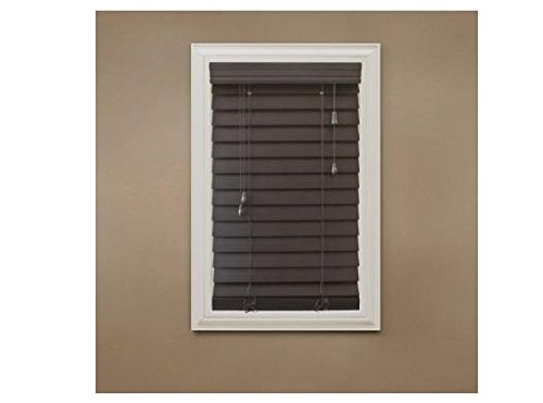 Espresso 2-1/2 in. Premium Faux Wood Blind - 23 in. W x 64 in. L by Home Decorators Collection