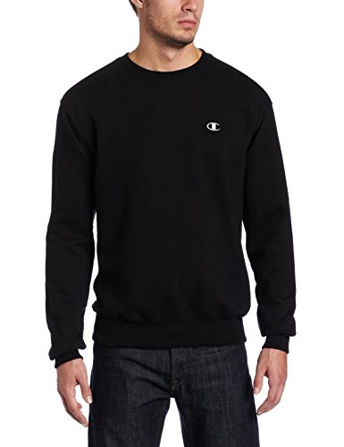 Champion Mens Eco Fleece Crewneck Sweatshirt S2465 -Black -Xxl S2465
