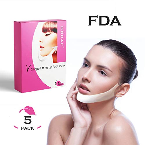 V Shape Chin Up Patch - Lifting Double Chin Reducer - Face Lift Firming Mask - Pack of 5