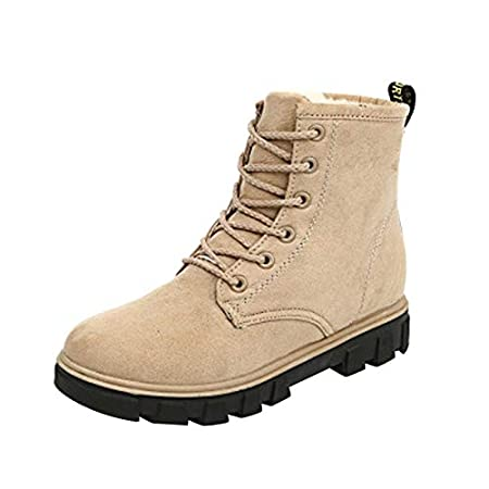 Amazon.com: DHmart Women Boots Plus Cashmere Warm Fashion Winter Snow Boots Lace Female Ankle Boots Women Boots Winter Casual Botines Mujer: Kitchen & ...