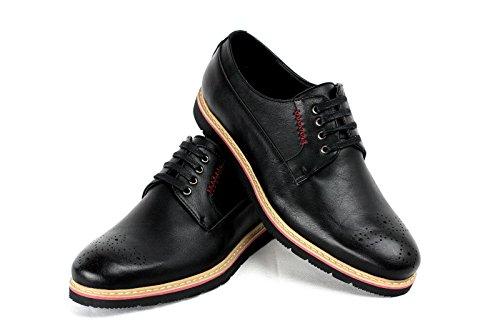 CABALLEROS Acento Irlandés ENCAJE Inteligente Zapatos Negro