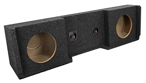"Bbox A152-12CP Dual 12"" Sealed Carpeted Subwoofer Enclosure - Fits 1999-2007 Chevrolet/GMC Silverado/Sierra Extended Cab from Atrend"