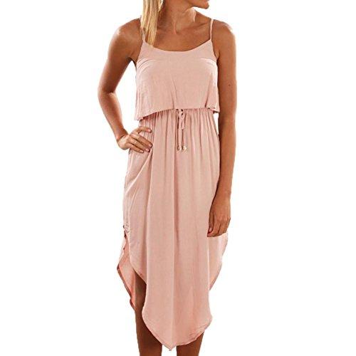 6c12c40fab Caopixx Womens Dress, Halter Irregular Dress Women Summer Two Piece Set Beach  Sundress
