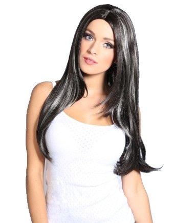 Amazon Com Long Black Dark Brown Blonde Highlights Straight Wig