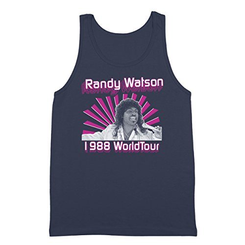 Funny Threads Outlet Randy Watson 1988 World Tour Sexual Chocolate Band Jackson Heights Own Hilarious Comedy 80s Movie Humor Mens Tank Top XX-Large - Outlets Jackson Hours