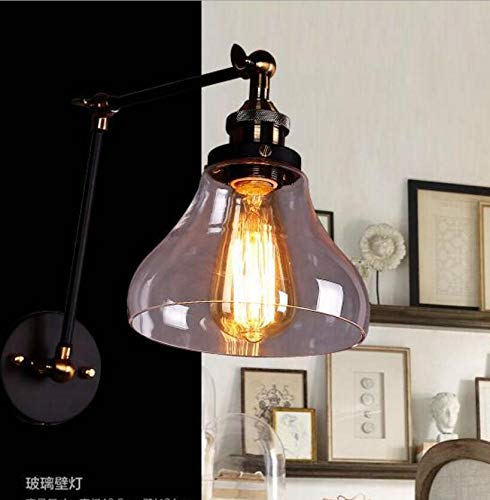BOOTU lámpara LED y luces de pared Apliques de cristal de hierro ...