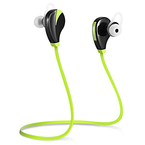 Wireless Headphones,Sporch Noise Cancelling Bluetooth Earbuds Sweatproof Earphones In-Ear Stereo Sports Headsets with Mic for Running Jogging Workout and Gym (Green)
