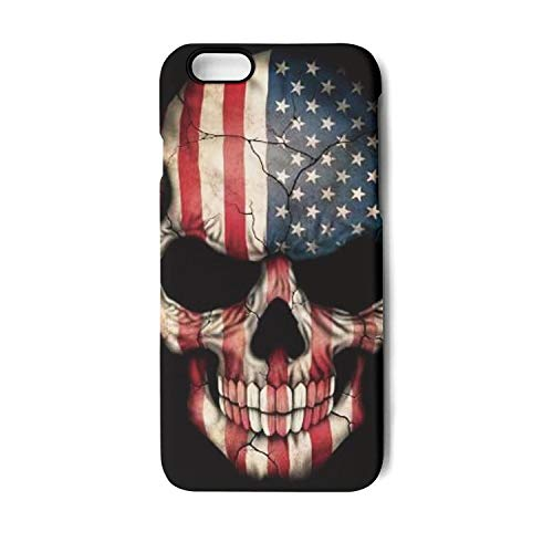 Flag Trooper Case Display (USA Flag Skull iPhone 6&iPhone 6s Case,Thin Tempered Glass&TPU&PC Slim Fit Anti-Scratch Protective Cover Compatible with Apple iPhone 6&iPhone 6s Case(4.7in))