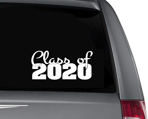 multisize Senior 2020 Class decal and car sticker for high school graduacting students