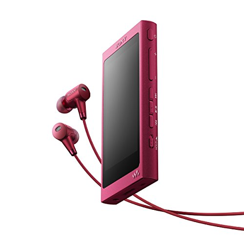 Sony Pink Noise Canceling Headphone (SONY Walkman A series NW-A35HN 16GB Noise-cancelling Headphones (MDR-NW750N) included Bordeaux Pink [Japan import])