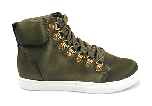 Liliana women sneaker ankle sneakers Royce-1 Olive 1f1bB7