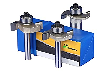 SHINA 360°Fine Finishing Top Tungsten Carbide Router Bit Ball Bearing T Shape Mill Cutter Woodworking Slotting Carving Tool 1Pc