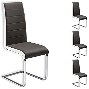 Idimex Lot De 4 Chaises De Salle A Manger Evelyn Pietement Chrome