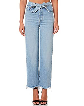 Levi's Women's Levi`S Ribcage Straight Jean Cotton Fitted Elastane Blue