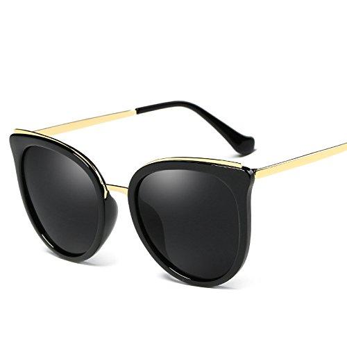 Polarizado Gafas De Gafas Polarizador Protección Sol De Unisex Pareja Conducción Redondo Medio Marco De Gafas E Sol Mujeres Trend UV Sol De Sol Gafas Vintage Moda Protección De Irregular E Solar Gafas S84wat