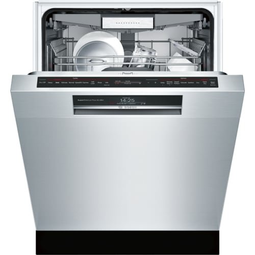 Bosch 800 Series 24'' Stainless Steel Recessed Handle Connected Dishwasher