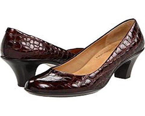 softspots Womens Pallas Leather Pump (8.5 M, Brown Croco)