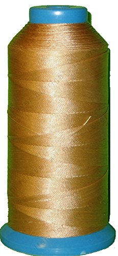 69 Leather - Item4ever BEIGE Bonded Nylon Sewing Thread #69 T70 1500 Yard for Outdoor, Leather, Upholstery