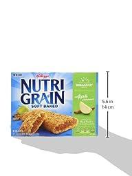 Kellogg\'s Nutri-Grain Cereal Bars (Apple Cinnamon, 1.3 oz, 8-Count Bars, Pack of 4)