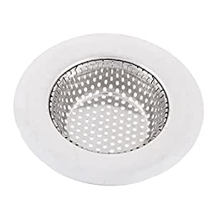 uxcell Kitchen Mesh Filter Sink Strainer 9cm Dia Silver Tone