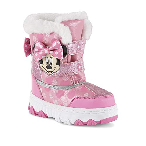 Toddler Girls' Minnie Mouse Pink Winter Boot (9 M US)