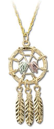 Dream Catcher Nature Jewelry - Black Hills Gold 10k Dreamcatcher Pendant Necklace