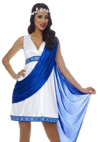 Ancient Roman Empress Costume - Franco Roman Empress Toga Greek Goddess Halloween Costume M