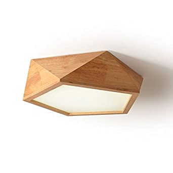 Geometrische Leuchten Decke Holz Lampe Dekoration Holz Hangeleuchte