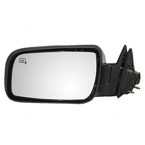 Drivers Power Side View Mirror Heated Puddle Lamp w/Satin Chrome Cover Replacement for Ford Mercury 8G1Z17683F