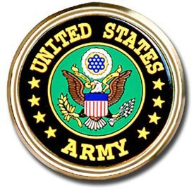 United States Army USA Seal Gold Plated Premium Metal Car Truck Motorcycle Emblem - United States Army Emblem
