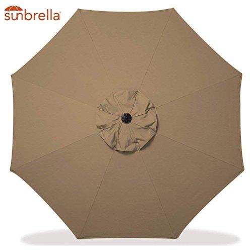 Bayside-21 9 Ft Aluminum Outdoor Table Market Umbrellas Sunbrella Replacement Umbrella Canopy for 9 ft 8 Ribs Patio Umbrella Replacement Market Table Outdoor Umbrella Canopy 8 Ribs (Sesame) by Bayside-21