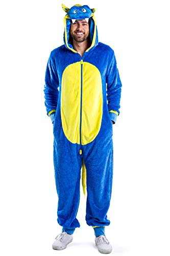 Tipsy Elves Men's Monster Costume for Halloween - Blue Funny Men's Halloween Costumes: Small