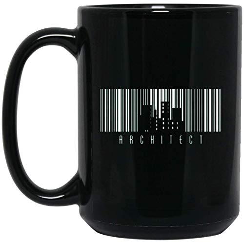 (Architect Barcode 15 oz. Black Mug)