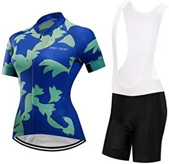 女性用サイクリングジャージ&ショーツセット半袖サイクリングジャージービブショーツセット半袖