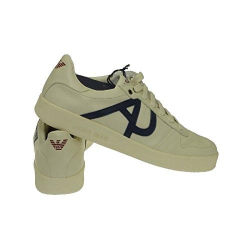 Armani - Zapatillas de Piel para hombre blanco blanco