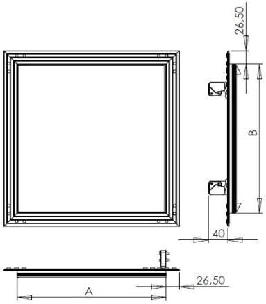 Upmann Grille Revi Porte Softline SV 400/x 400/RAL9016/fermoir 1/pi/èce 20478