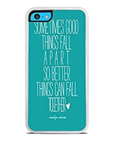 Trendy Accessories Marilyn Monroe Quote Design Print Image White Silicone Case for iphone 5/5s iphone 5/5s