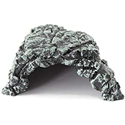 OMEM Reptile Breeding Box HideoutHabitat Decor Terrarium Turtle Shelter Resin Humidify Hide Caves
